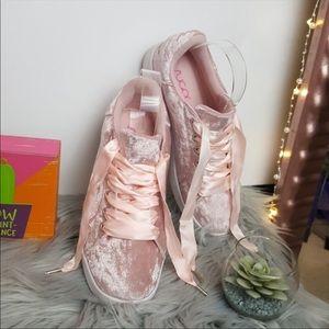 Sugar Pink Velvet Sneakers